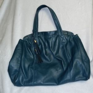 H&M Green Faux Leather Styled Bag